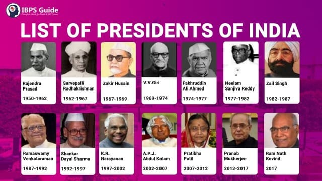 list of president of india